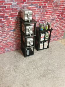 3d printed 1/18 scale 5L CANS 20L BARRELS & SPRAY CANS BUNDLE for garage diorama