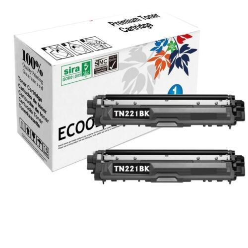 2PK TN221 High Yield Black Toner Cartridges for Brother HL3140//3170 MFC9340DCW
