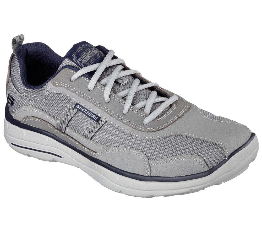 NEW SKECHERS Men Casual Sneakers Trainers Memory Foam GLIDES- ELLISON Gray
