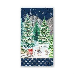 """Michel Design Works Hostess Napkins /""""Poinsettia/"""" 15 Triple-Ply Made In Germany"""
