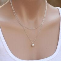 OL Style Chic Pearl Choker Chunky Statement Bib Necklace Jewelry Chain Pendant