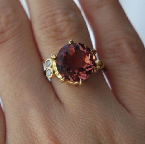 925 Sterling Silver Handmade Gemstone Turkish Alexandrite Ladies Ring Size Adj