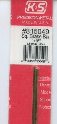 1.59x1.59mm 12 in BRASS H-COLUMN 1//16x1//16in K/&S Engineering #815008 NEW