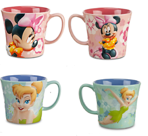 Disney-Store-Minnie-Mouse-Fee-Clochette-Tasse-Cafe-Tasse-Printemps-Floral-Neuf