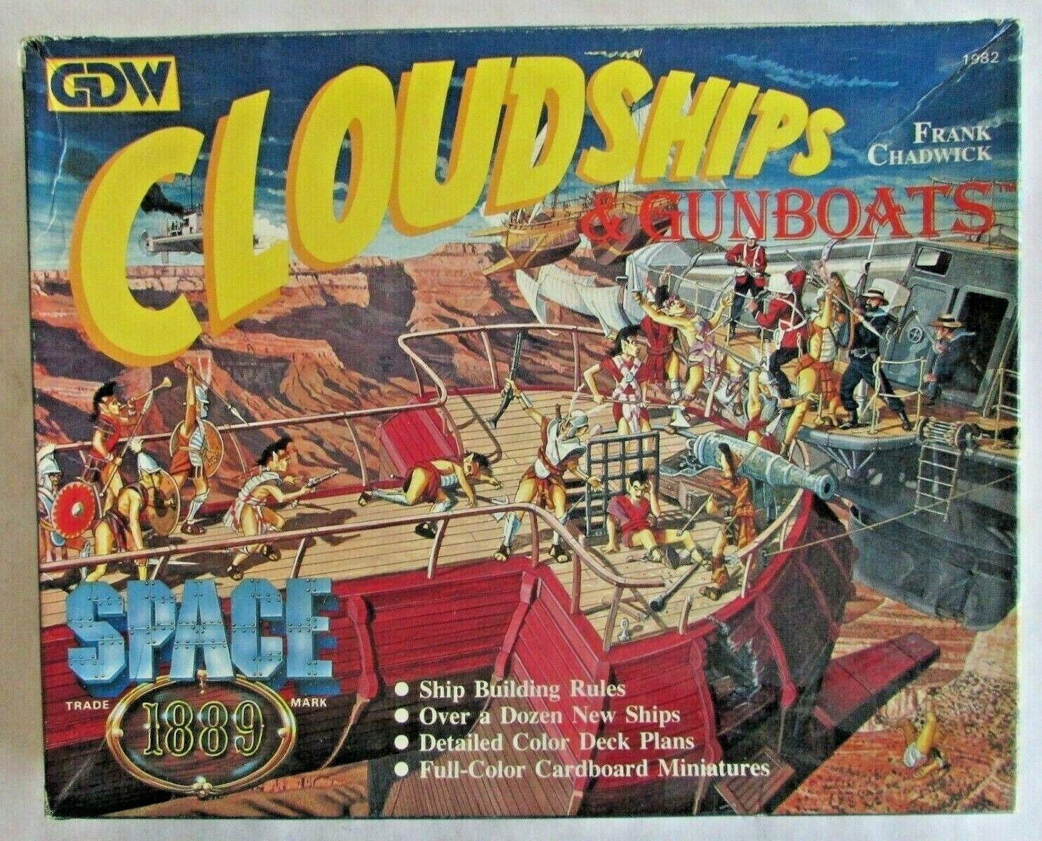 Cloudships & canonnières-GDW-qui-vintage 1980 Jeu-Sci-Fi Role Playing