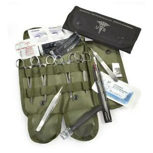 Elite Military First Aid Surgical Kit 16 Piece Stainless Steel Emergency Prep