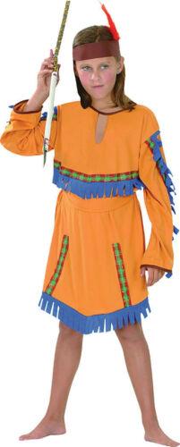 Kids American Indian Girl Western Costume Libro Settimana Taglia 4-15 anni