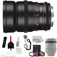 Rokinon 24mm T1.5 Cine Ds Lens For Canon Ef Mount + Uv Polarizer Fld + Lens Cap on sale