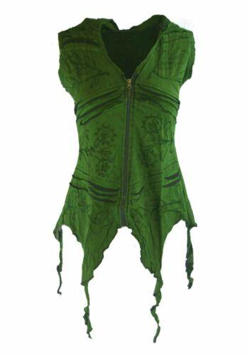 Jacke Weste Nepal Goa Hippie Witchy Ethno Pagan grün schwarz blau 36 38 40 42