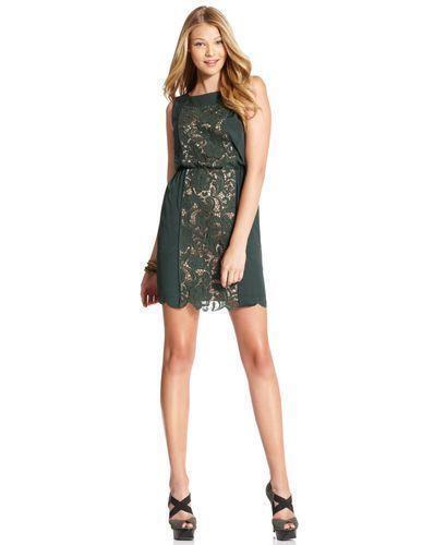Jessica Simpson NWT Gorgeous Grün Crochet  Lace  Dress M 8 10 new years