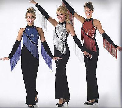 Clearance Dance All Night Disco Glitter Jumpsuit Dance Costume Child Large