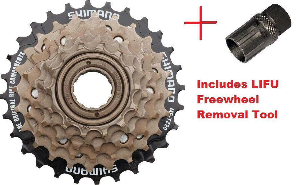 Shimano MF-TZ500 6Spd Multi-Freewheel 14-28t Screw-On Cluster + Removal Tool