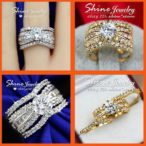 9K-GOLD-FILLED-3-WAY-SIMULATED-DIAMOND-WEDDING-LADY-SOLID-CHANNEL-THREE-RING-SET