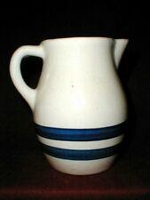 Country Stoneware Robinson Ransbottom Cobalt Blue Stripe/Band 1 QT Milk Pitcher