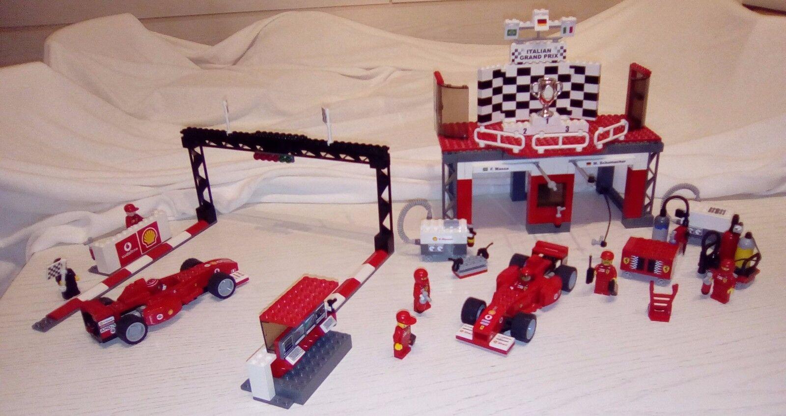 LEGO Racers  Ferrari Finish Line ( 8672 )  mit vielen Extras
