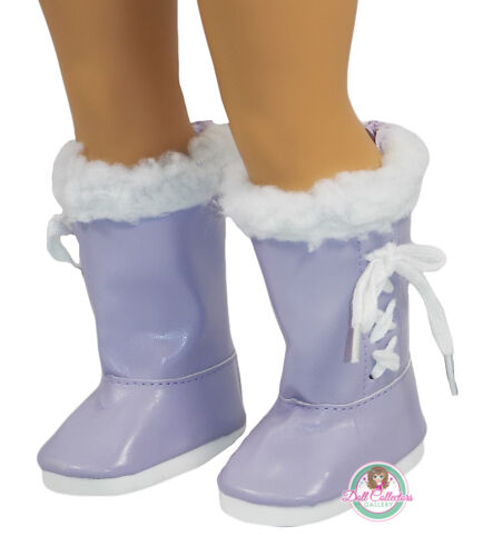 "AFW BOOTS W// FUR LINING LAVENDER for 18/"" American Girl Dolls Shoes Purple NEW"
