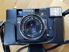 Vintage camera KONICA C35 38mm 2.8 Japan lens..black..