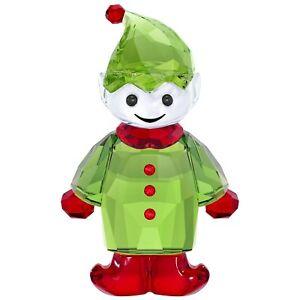 2e935bfa2d5e6 Details about SWAROVSKI SANTA'S HELPER BRAND NEW IN BOX #5286532 CRYSTAL  GREEN RED ELF SALE FS
