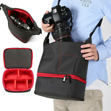 Portable Waterproof Shockproof Insert Compact DSLR Camera Case Bag Pouch Red