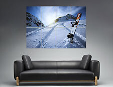 Snowboard Extrem Sport Sunset Wall Art Poster Grand format A0 Large Print