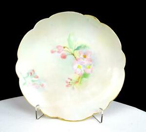 ROSENTHAL-BAVARIA-ARTIST-SIGNED-PINK-FLORAL-AND-PASTELS-6-3-4-034-SIDE-PLATE-1907