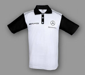 Neu Herren Mercedes AMG Gestickte Polo Shirt Auto Fan Bekleidung Team