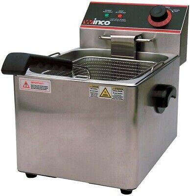 Winco Efs 16 Electric Countertop Single Well Deep Fryer 16