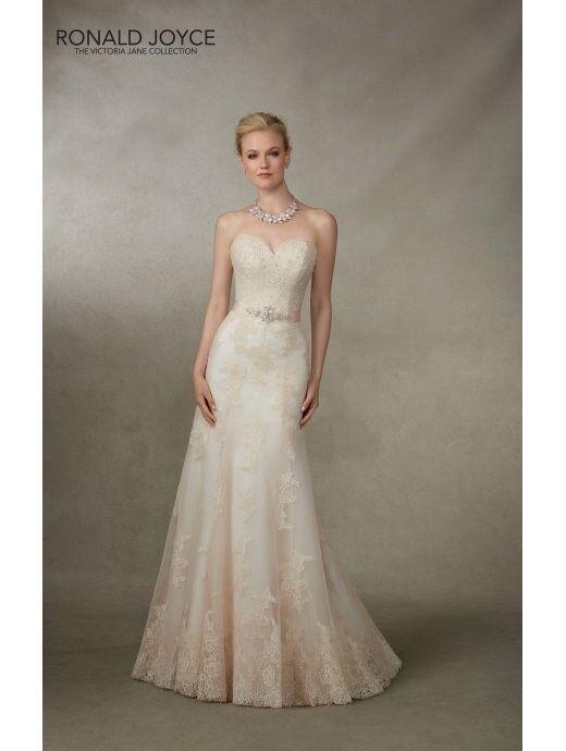 Ronald Joyce Jamaica 18004 Ivory Lace fit & flare wedding dress UK14 brand new