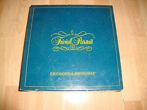 TRIVIAL-PURSUIT-EDICION-GENUS-DE-DISET-JUEGO-DE-MESA-DE-1984-USADO-BUEN-ESTADO