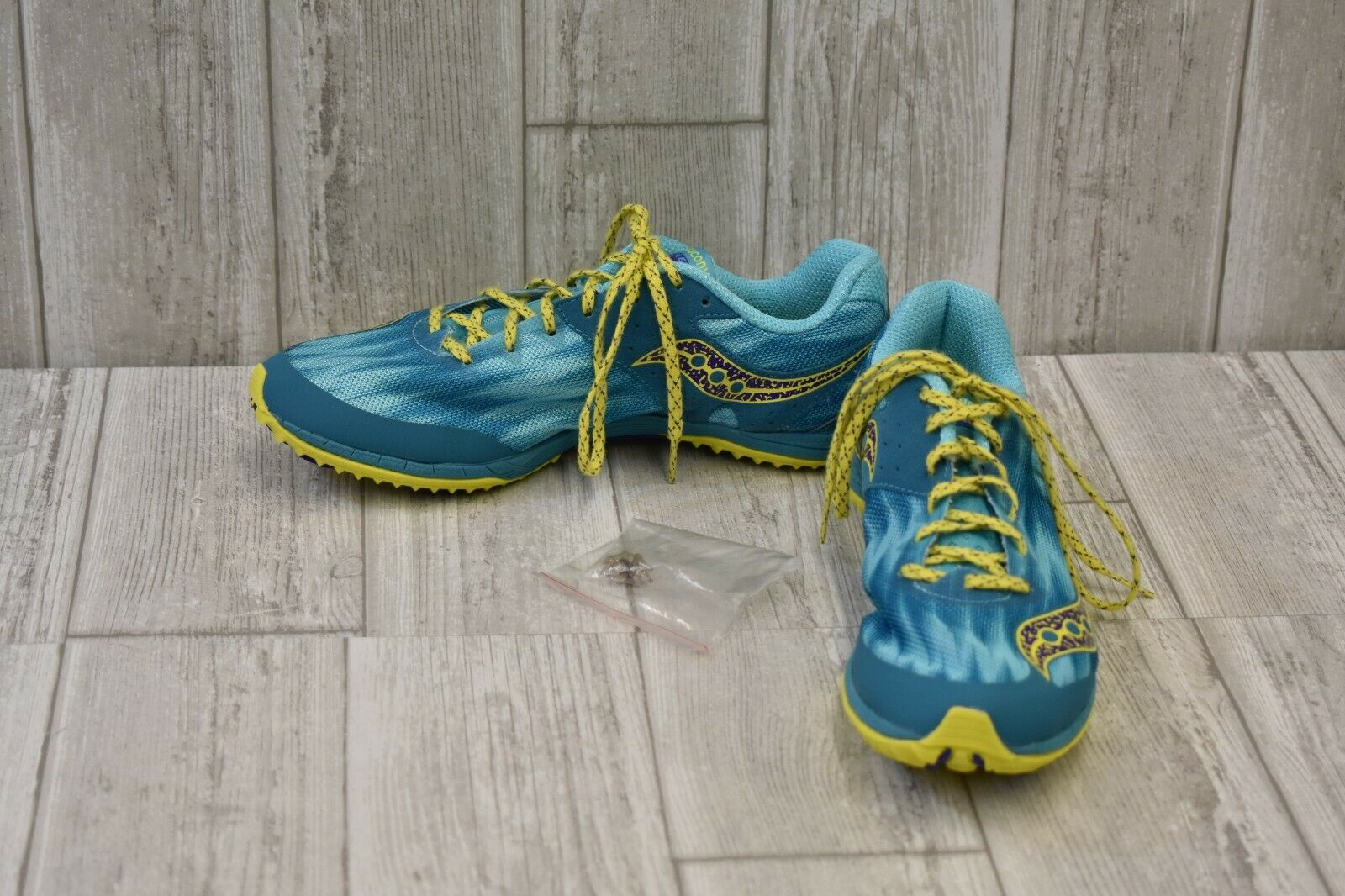 Kilkenny XC Spike Cross Country Cleats - Women's Size 9.5 - Teal Lime