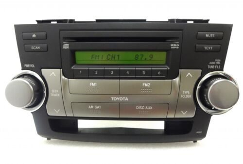NEW TOYOTA HIGHLANDER Radio Stereo MP3 CD Disc Player Factory OEM Tested AD1821