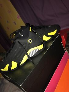 outlet store c95a3 f844f Details about Big Kids size 6, Jordan 14s black and yellow