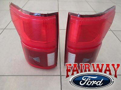 2018 F 150 Oem Ford Led With Blind Spot Tail Lamps Lights Pair Rh Lh New Style Ebay