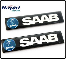 2x SAAB CAR Badge Emblema Decalcomania Adesivo ALA LATERALE PARAFANGO POSTERIORE avvio tronco 107