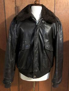 Mens-Vintage-COOPER-G-1-Leather-Shearling-Flight-Motorcycle-Jacket