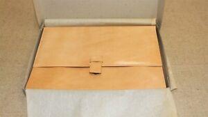Porte document vintage 70/80 neuf cuir marron clair serviette deadstock NOS