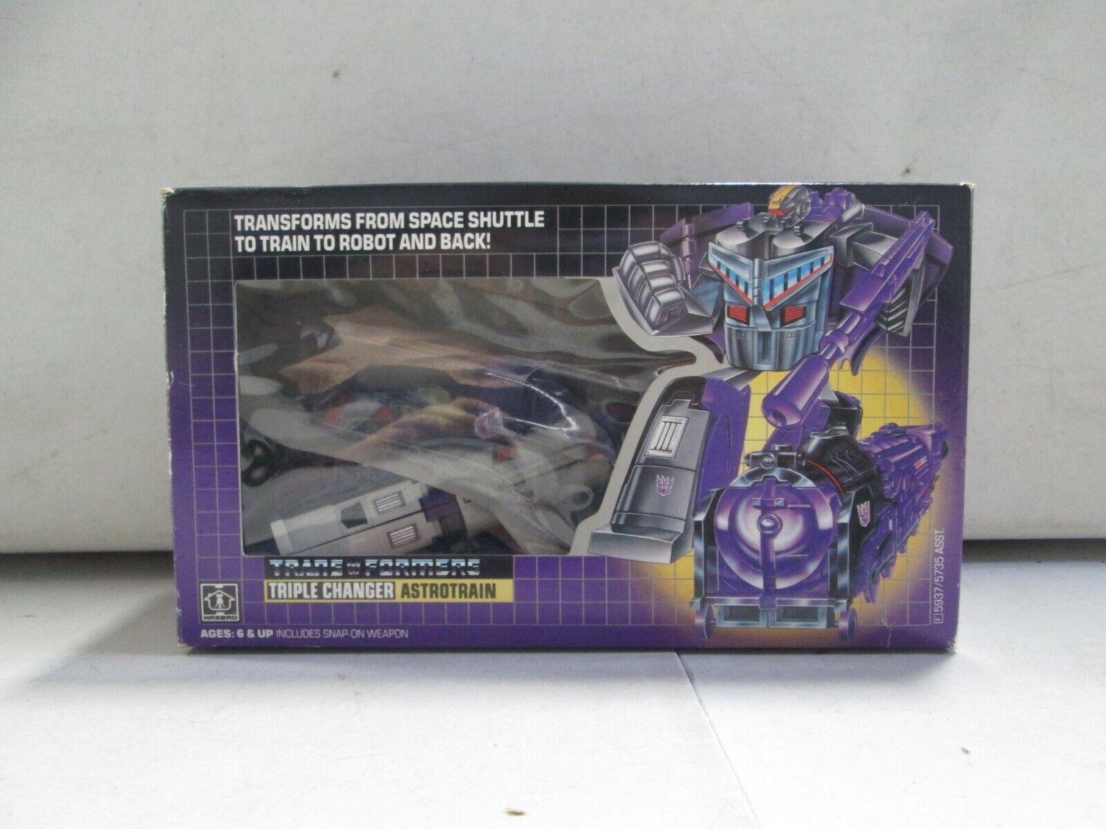 1985 Transformers G1 Triple Changer Astredrain