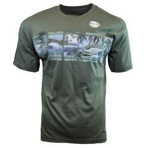 Mens-Tee-T-Shirt-S-M-L-XL-XXL-Hawaiian-Surf-Beach-Aloha-Paradise-Relax-NEW-GREEN