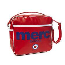 MENS MERC LONDON TARGET MESSENGER FASHION AIRLINE BAG - RED