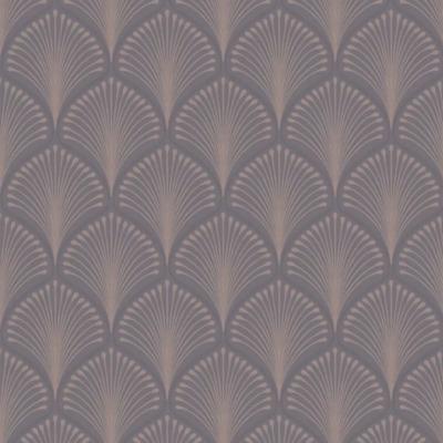 Layla Navy Blue and Silver Art Deco Fan Wallpaper Paste the Wall Vinyl GV3103