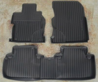 OEM 2013 Honda Civic 4dr Sedan Black All Season Rubber Floor Mats 08P13-TR0-110A