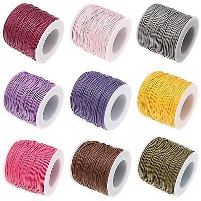 colore: rosso 1 mm 10 m cordino Shamballa Corda in cotone cerato gioielli in macram/é