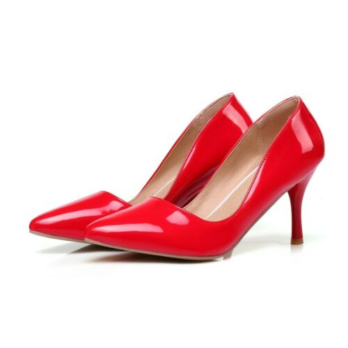 Details about  /8cm High Heels Pointy Toe Slip On Casual Women/'s Office Dress Evening Shoes D