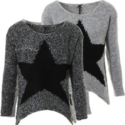 KEY LARGO Damen Strickpullover Dance grau melange Stern Star Motiv WKN00016 | eBay