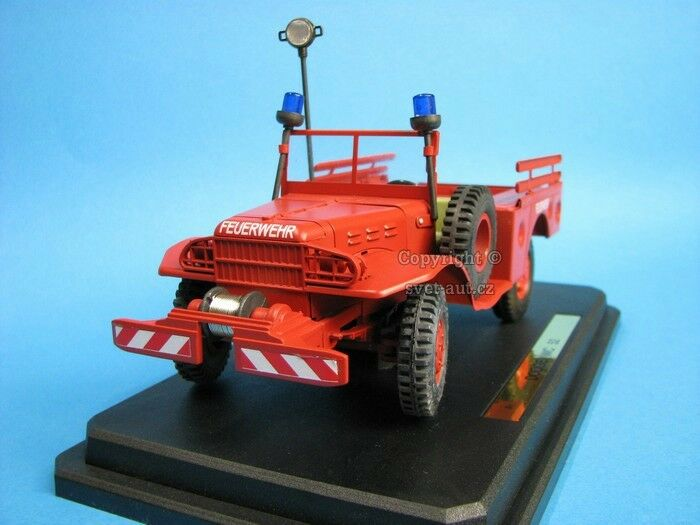 Dodge Wc 52 1 24 Kaden, Gonio de bomberos, vehículo de fuego-no grúa