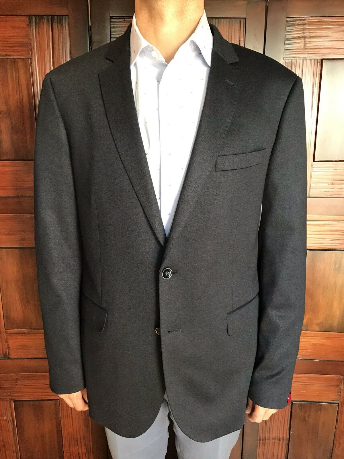 JKT New York Men's Casual Soft Sport Coat in Navy Size 46R New