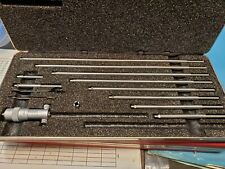New Listingstarrett No 124b Solid Rod Inside Micrometer Set 2 To 12