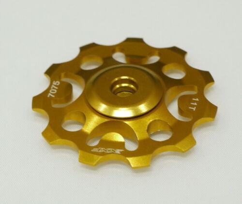 NEW XXF JOCKEY WHEEL PULLEY  Rear Derailleur  SUPER LIGHT GOLD 11T FOR SHIMANO