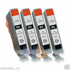 4-Black-CLI-8-Ink-Cartridge-CLI-8BK-CLI-8-WITH-NEW-CHIP-for-Canon-MP950-Printer