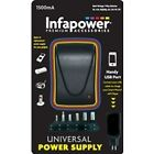 P003 Infapower 1500ma Universal Multi-voltage Power Supply USB Port 6 Tips Black